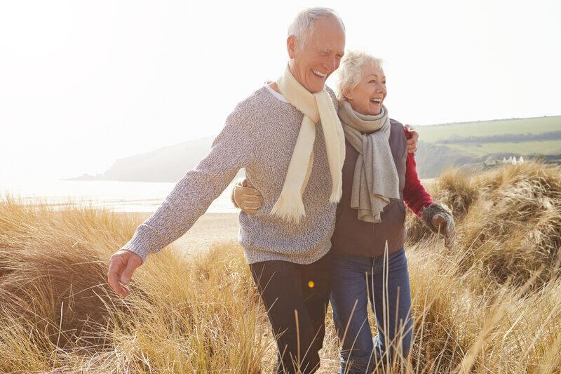 Senior couple enjoying their lifetime allowance pension scheme